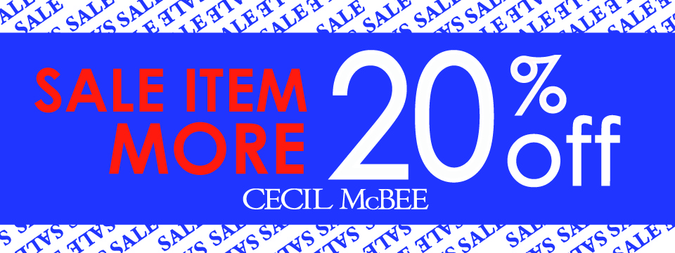 CECIL 2BUY MORE20%オフ